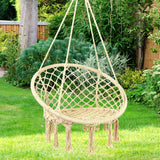 Hammock Chair Macrame Swing - Max 330 Lbs