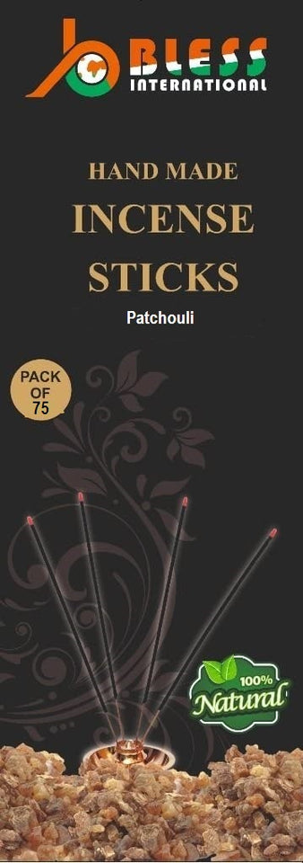 Bless International 100%-Natural-Incense-Sticks Handmade-Hand-Dipped The-Best-Scent (Patchouli, Incense Sticks)