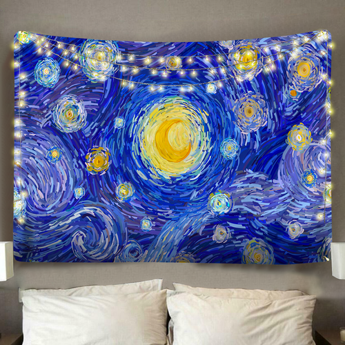 Polister Digital Starry Night Tapestry (Twin((72x41 Inches)(183x104cms))