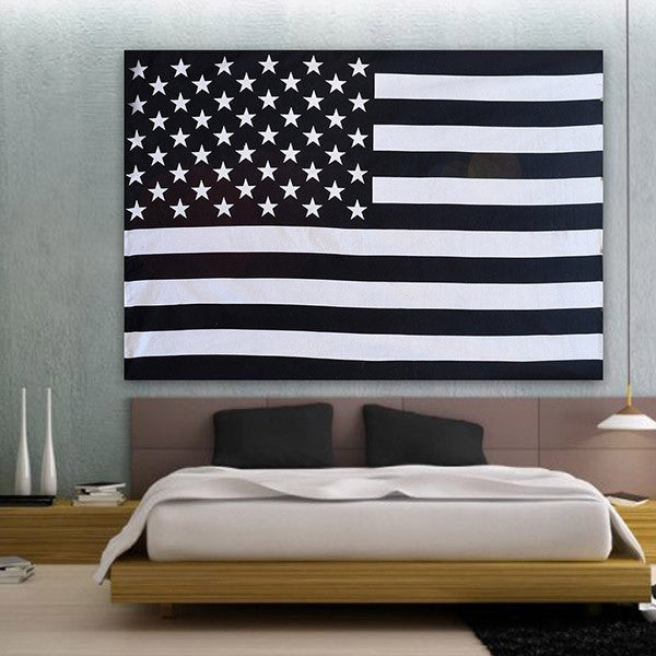 American Flag Black and  White Hippie Ethnic Bohemian Psychedelic Handmade Tapestry - Bless International - Tapestries & Handicraft Exporter & Retailer - 3
