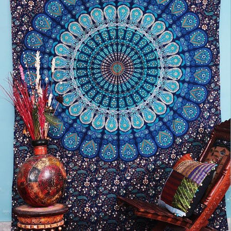 Indian Droplet bohemian Hippie Handmade Tapestry with Exclusive Bestseller eBook - Bless International - Tapestries & Handicraft Exporter & Retailer - 4