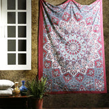 Indian Psychedelic Red Star Mandala Bohemian Handmade Tapestry - Bless International - Tapestries & Handicraft Exporter & Retailer - 1
