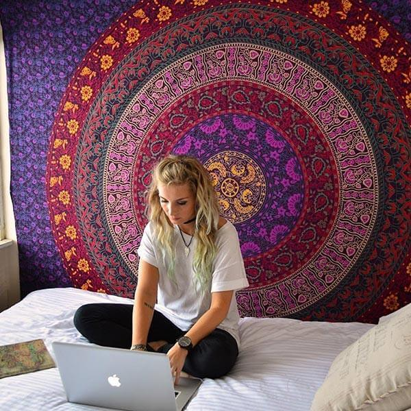 Multi-Color Mandala Tapestry