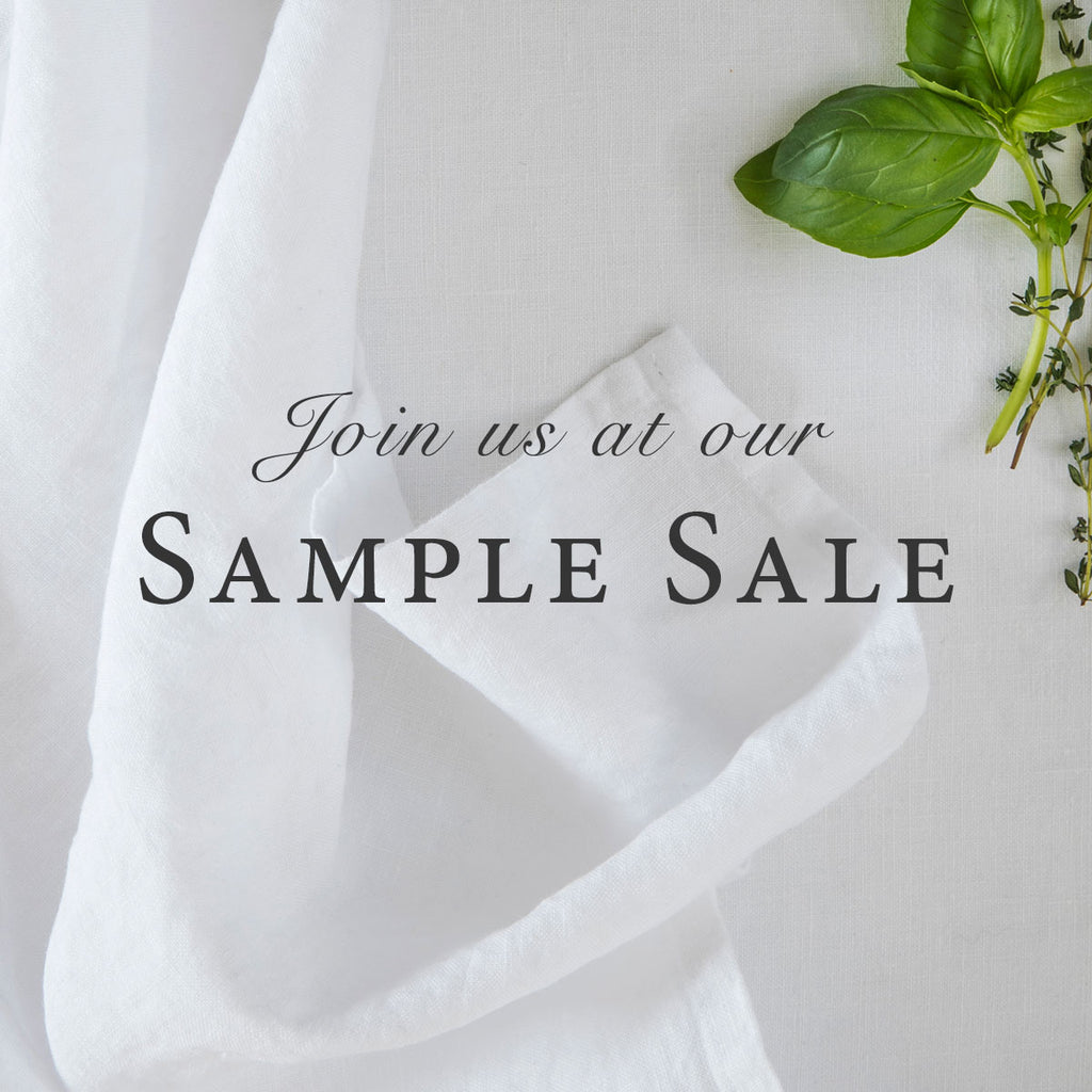 Welcome to our SAMPLE SALE