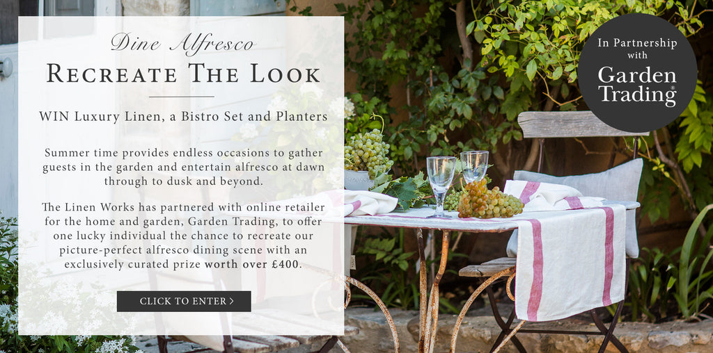 Competition | Win Luxury Linen, a Bistro Set and Planters