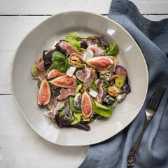 Fig, Prosciutto & Goat's Cheese Salad with Arugula