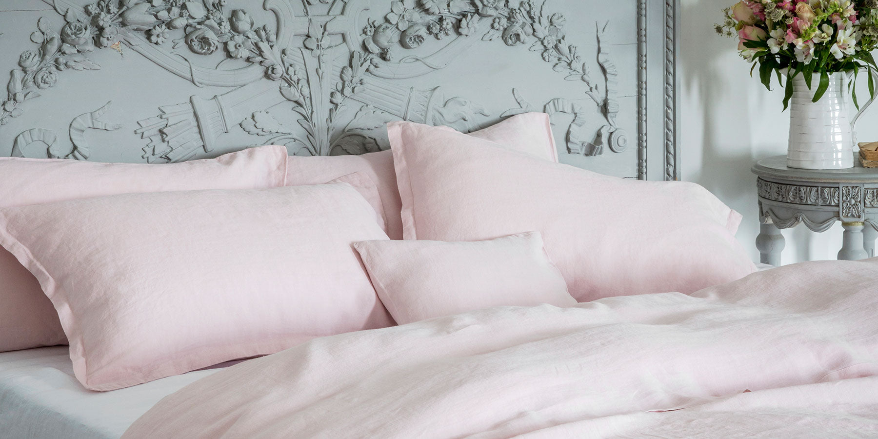 Mireille Rose Linen Bed Linen