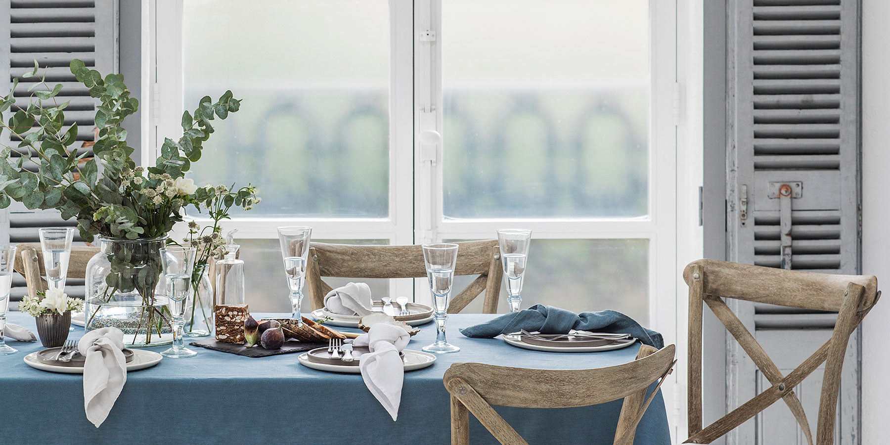 Parisian Blue Tablecloth