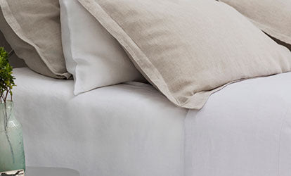 White Linen Fitted Sheets