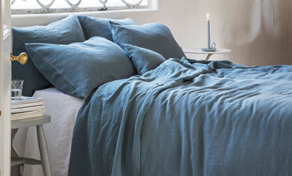 Linen Duvet Cover Parisian Blue