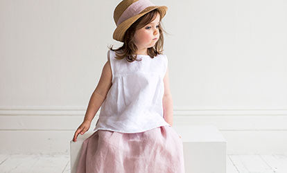 Linen Children's Clothing and Girl's Linen Clothing