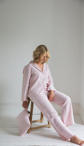 New Rose Linen Pyjamas