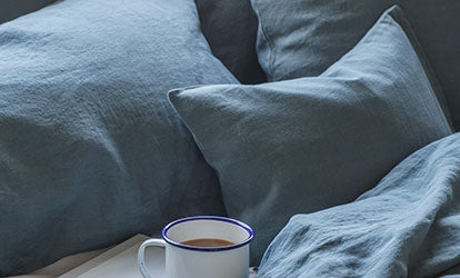 The Linen Works Parisian Blue Pillowcases