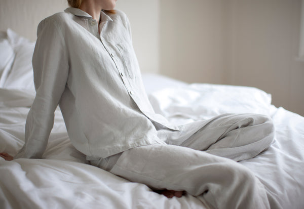 Linen Pyjamas Dove Grey