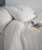 Toulon Dove Grey Linen Duvet Cover - The Linen Works