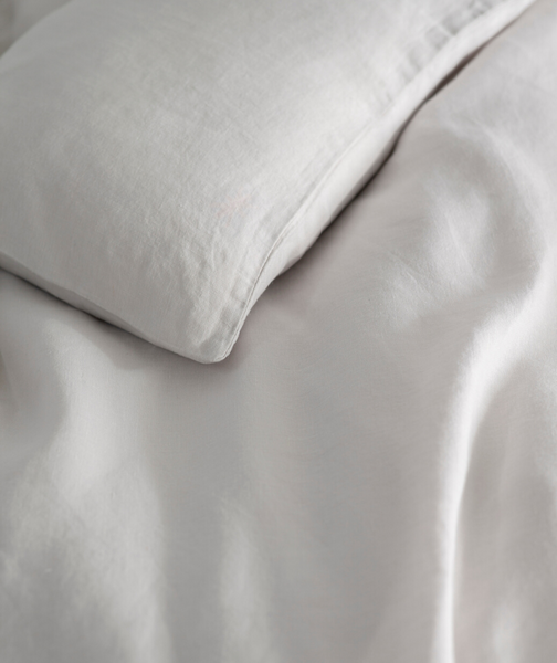 Toulon Dove Grey Linen Duvet Cover - The Linen Works (217334185994)