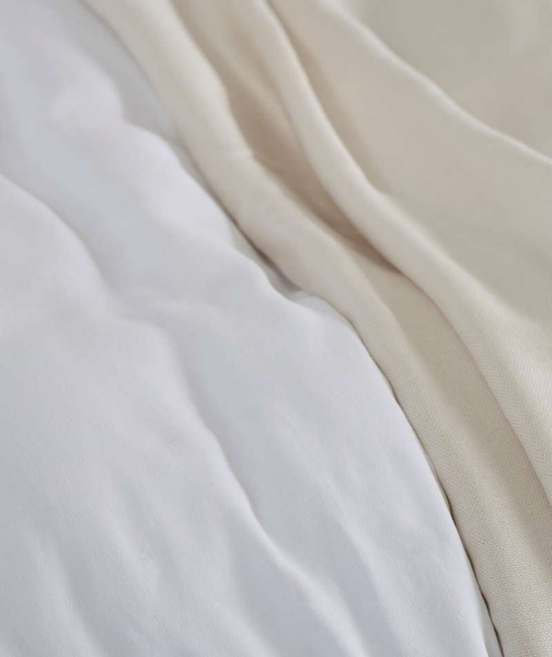 Classic White Linen Duvet Cover - The Linen Works (4462132396109)