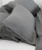Lens Charcoal Linen Duvet Cover - The Linen Works (217326256138)