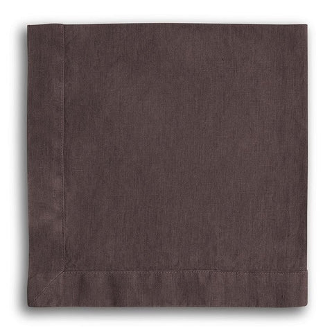 Aubergine Linen Napkin Mitered Hem Collection - The Linen Works