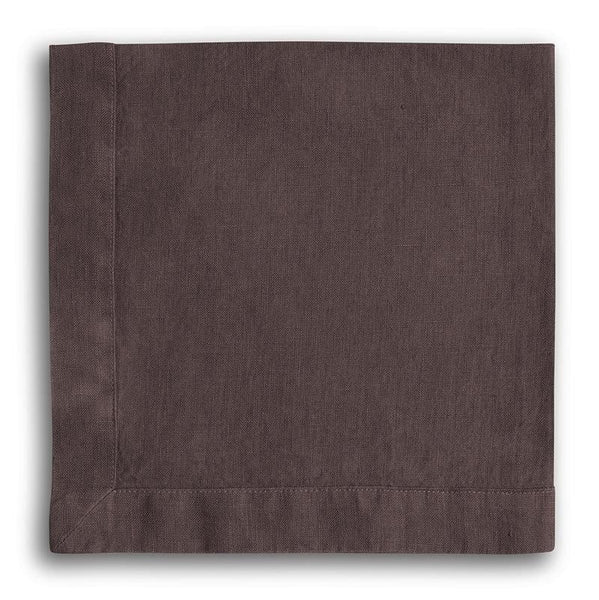 Aubergine Linen Napkin Mitered Hem Collection - The Linen Works (261489721354)
