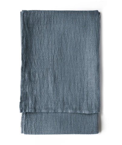 Parisian Blue Linen Waffle Bath Towel - The Linen Works (217861455882)