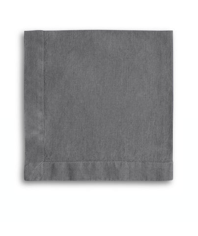 Charcoal Linen Napkin Mitered Hem Collection - The Linen Works (257736966154)
