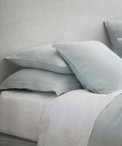 Home U203a Classic White Linen Fitted Sheet