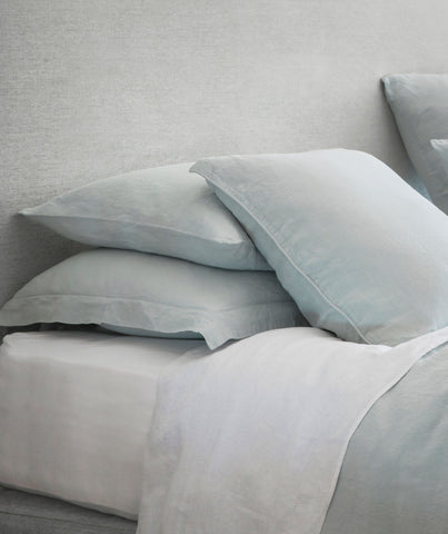 Classic White Linen Fitted Sheet - The Linen Works