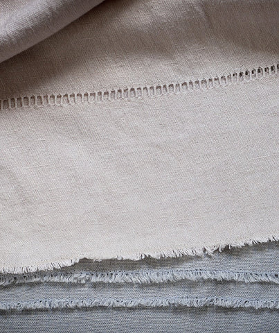 Soft Grey Hand Loom Linen Throw - The Linen Works (249543524362)