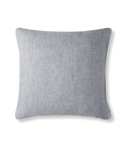 Navy Large Criss-Cross Linen Cushion Cover Lario Collection - The Linen Works
