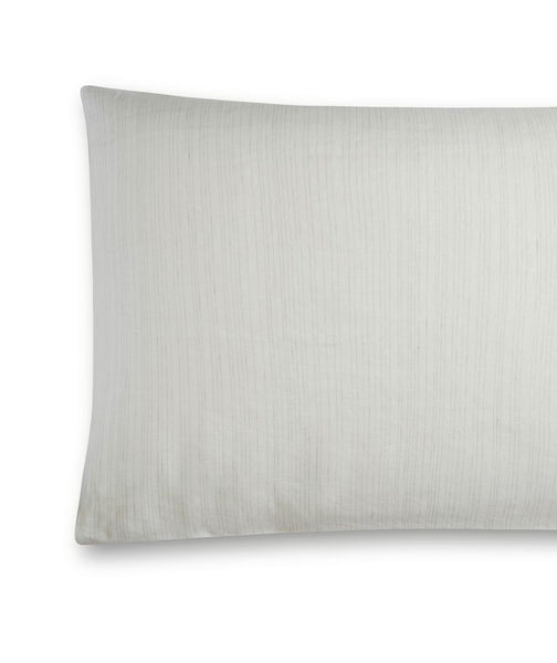Pale Grey Stripe Linen Pillowcase Lario Collection - The Linen Works (217552322570)
