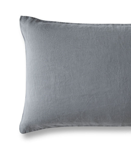 Lens Charcoal Linen Pillowcase - The Linen Works (217384747018)
