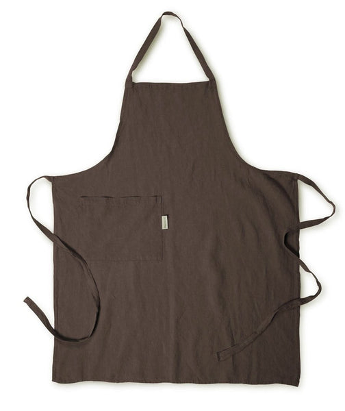 Aubergine Linen Apron - The Linen Works (277323415562)