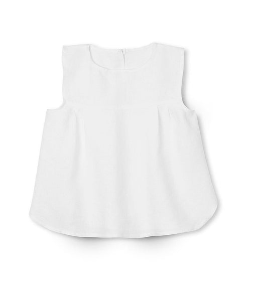White Linen Girl's Top - The Linen Works (239175565322) (4469580595277)