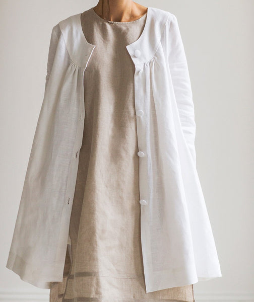 White Linen Jacket - The Linen Works (217215270922)