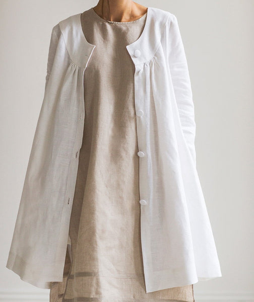 White Linen Jacket - The Linen Works (4463746252877)
