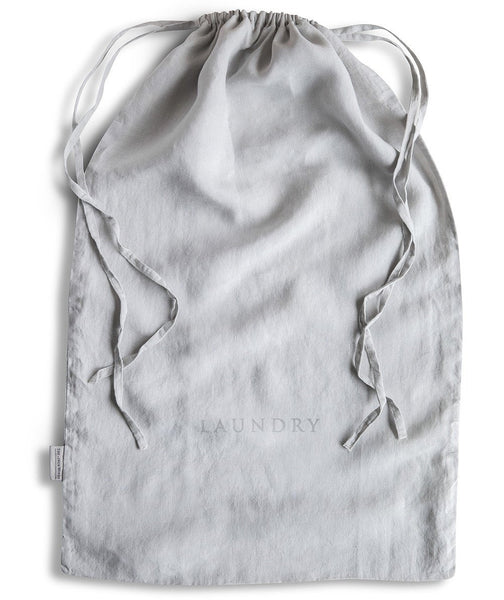 Dove Grey Linen Laundry Bag - The Linen Works (217878102026)