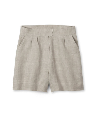 Oatmeal Linen Shorts - The Linen Works (4463674687565)