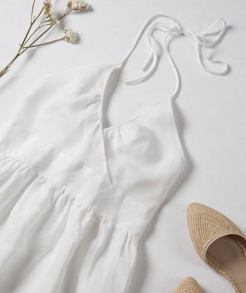 Linen Silk Pocket Dress - The Linen Works (4463952527437)