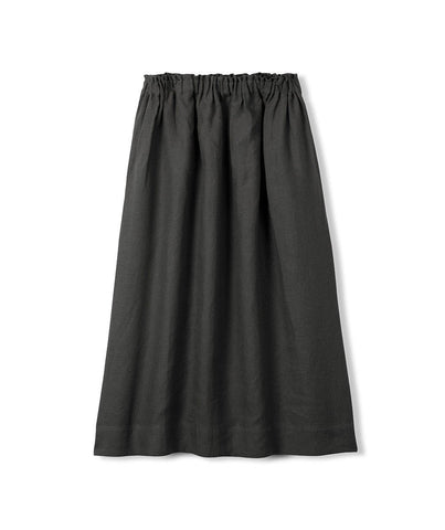 Black Linen Skirt - The Linen Works (217260490762)
