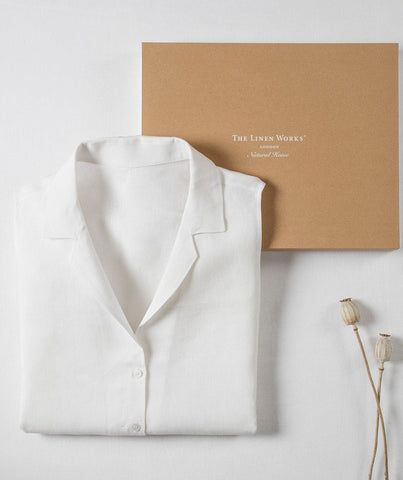 White Linen Sleeveless Shirt - The Linen Works (217364693002)