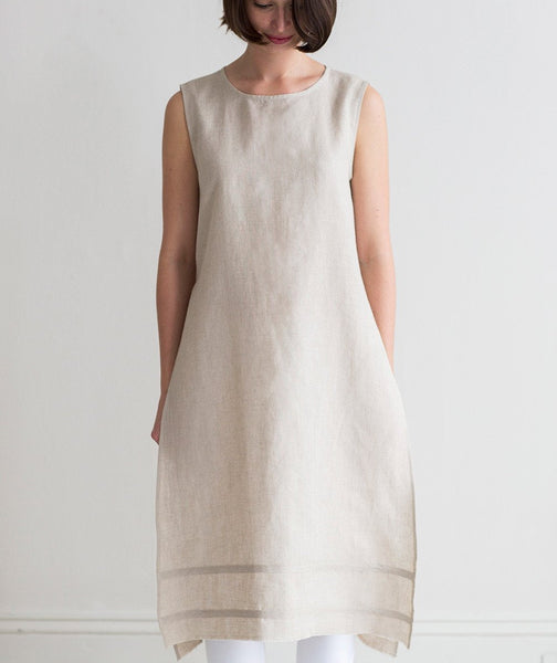 Oatmeal Linen Tunic - The Linen Works
