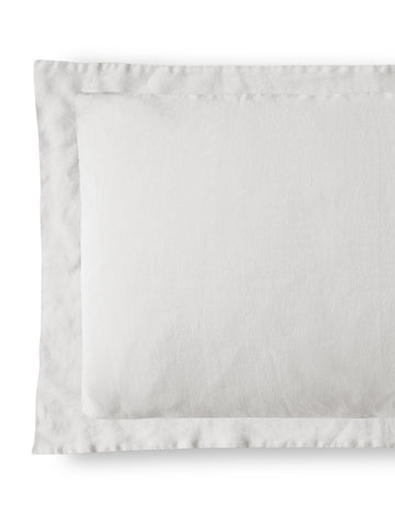 Dove Grey Linen Pillowcase Hemstitch Collection - The Linen Works (4461746421837)