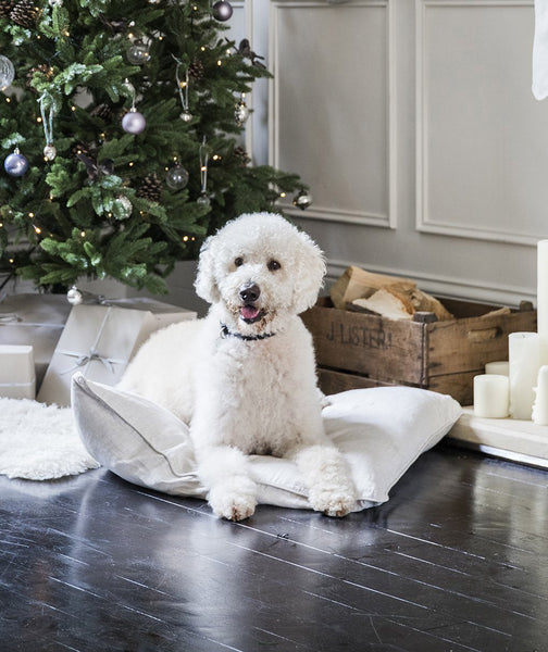 Ecru Linen Dog Bed - The Linen Works (248922013706)
