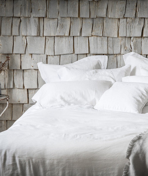 Classic White Linen Pillowcase - The Linen Works