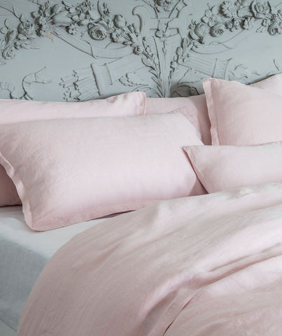 Mireille Rose Linen Pillowcase - The Linen Works (248787730442)