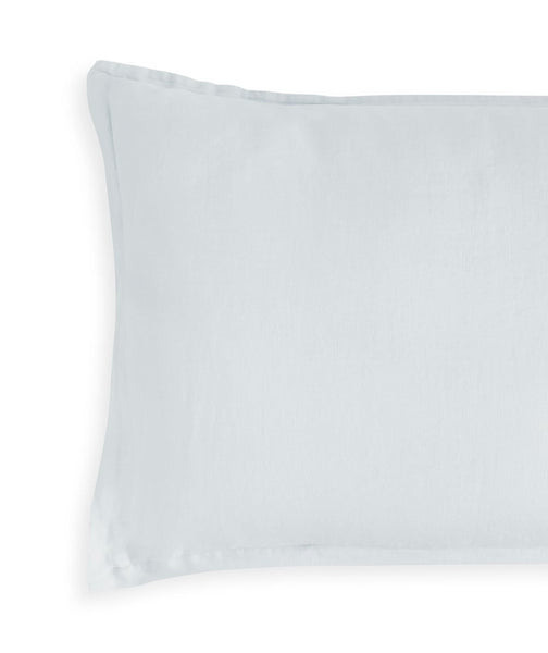 Moustier Duck Egg Linen Pillowcase - The Linen Works (217423052810)