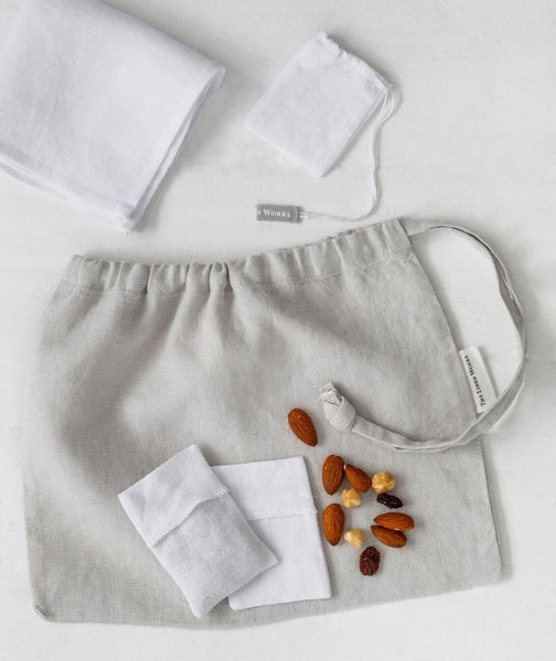Linen Lunch Bag Set