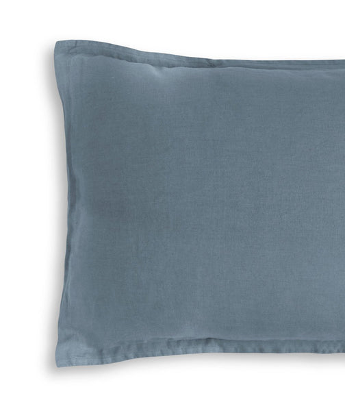 Parisian Blue Linen Pillowcase - The Linen Works (217510346762)