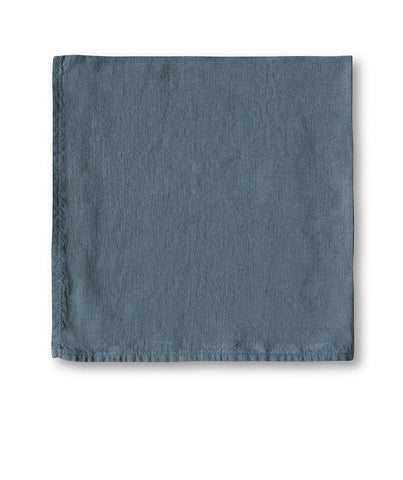 Parisian Blue Linen Napkin - The Linen Works